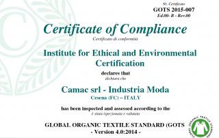 CAMAC tessuti organici certificati
