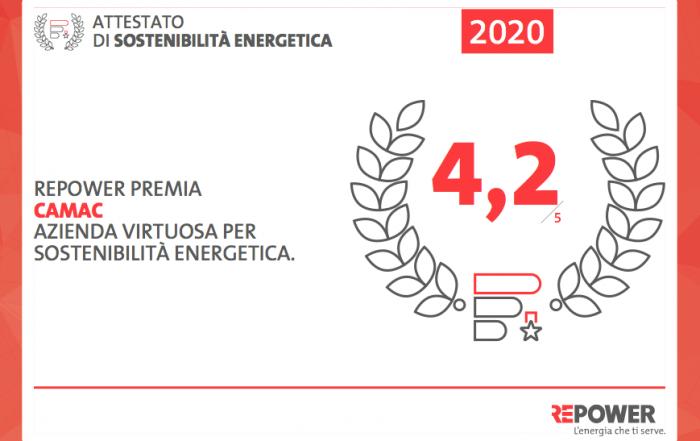 REPOWER PREMIA CAMAC AZIENDA VIRTUOSA PER SOSTENIBILITÀ ENERGETICA
